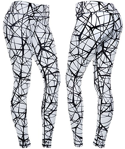 CompressionZ Women's Compression Pants (Tangled Black - XL) Best Full Leggings Tights for Running, Yoga, Gym from CompressionZ