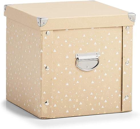 Zeller Caja de cartón para Bolas de Navidad, Color Natural y ...