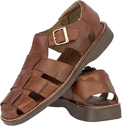 Men's 340 Chedron Authentic Mexican Huaraches Real Leather Sandals Closed  Toe