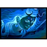 Lord Shiva Paintings with Frame ((12 x 1 x 18) Inches)