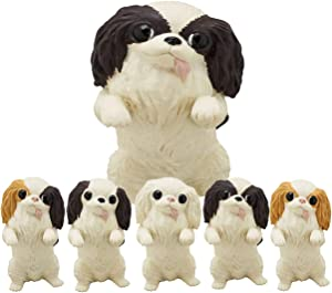 Kitan Club Japanese Chin Dog Plastic Toy - Blind Box Includes 1 of 5 Collectable Figurines - Fun, Versatile Decoration - Authentic Japanese Design - Made from Durable Plastic