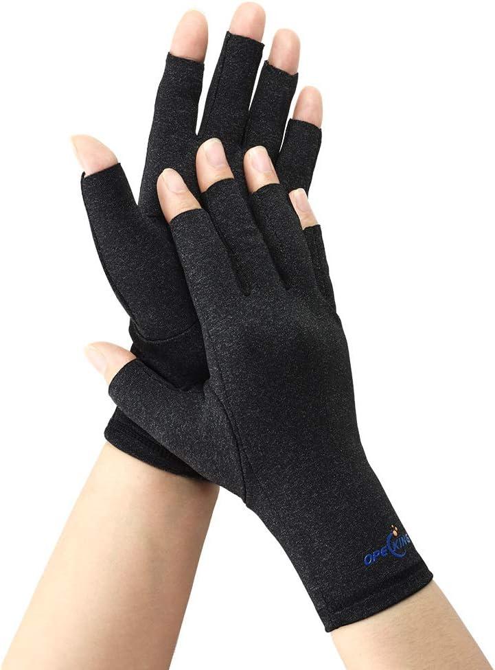Compression Gloves Women,Arthritis Gloves Men,Fingerless Hand Warm Brace,Raynaud Gloves for Arthritis,Raynauds Disease & Carpal Tunnel