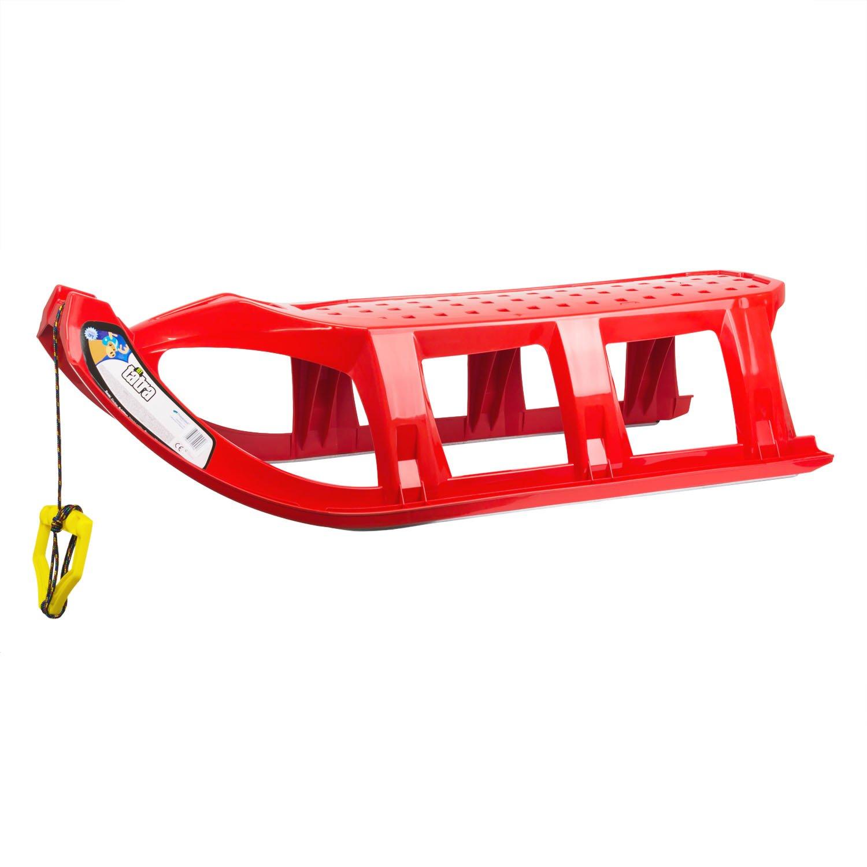 Rot Groß Klar Tatra Kunststoff Kid Schlitten mit Seil