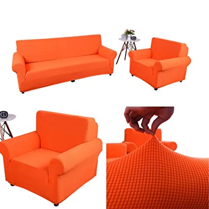 Dasior Stretch Sofa Covers Non Slip Couch Cover, Elastic Fleece Furniture Protector Cover for Living Room Loveseat