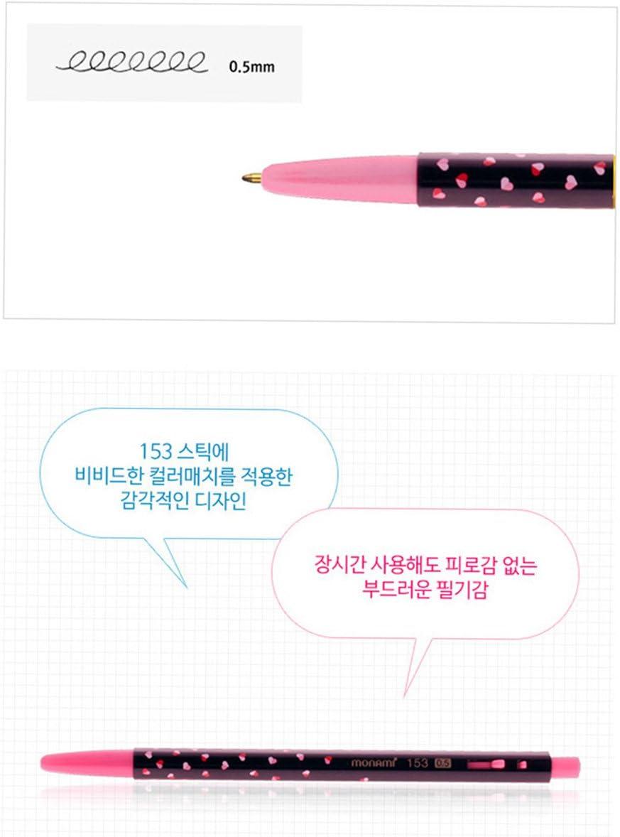 Monami Ballpoint Pen Gift Set of 5-153 Flower Edition 0.5mm Black