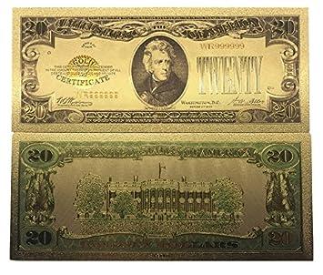 Amazon com: blinkee New 20 Dollar Bill 24k Gold Art