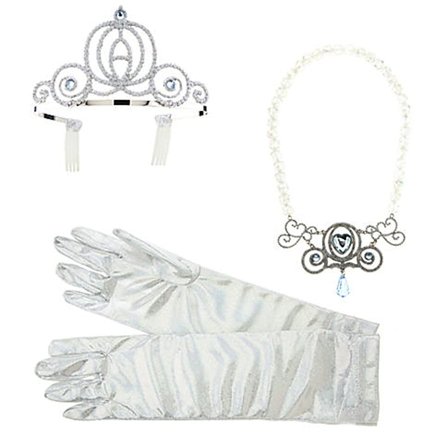 Amazon.com Disney Deluxe Cinderella Costume Accessory Set Necklace Crown Tiara Clothing  sc 1 st  Amazon.com & Amazon.com: Disney Deluxe Cinderella Costume Accessory Set Necklace ...
