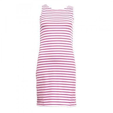 5ccb07e5e94 Joules Riva Sleeveless Jersey Womens Dress (Y) Bright Pink Stripe UK18 EU46  US14