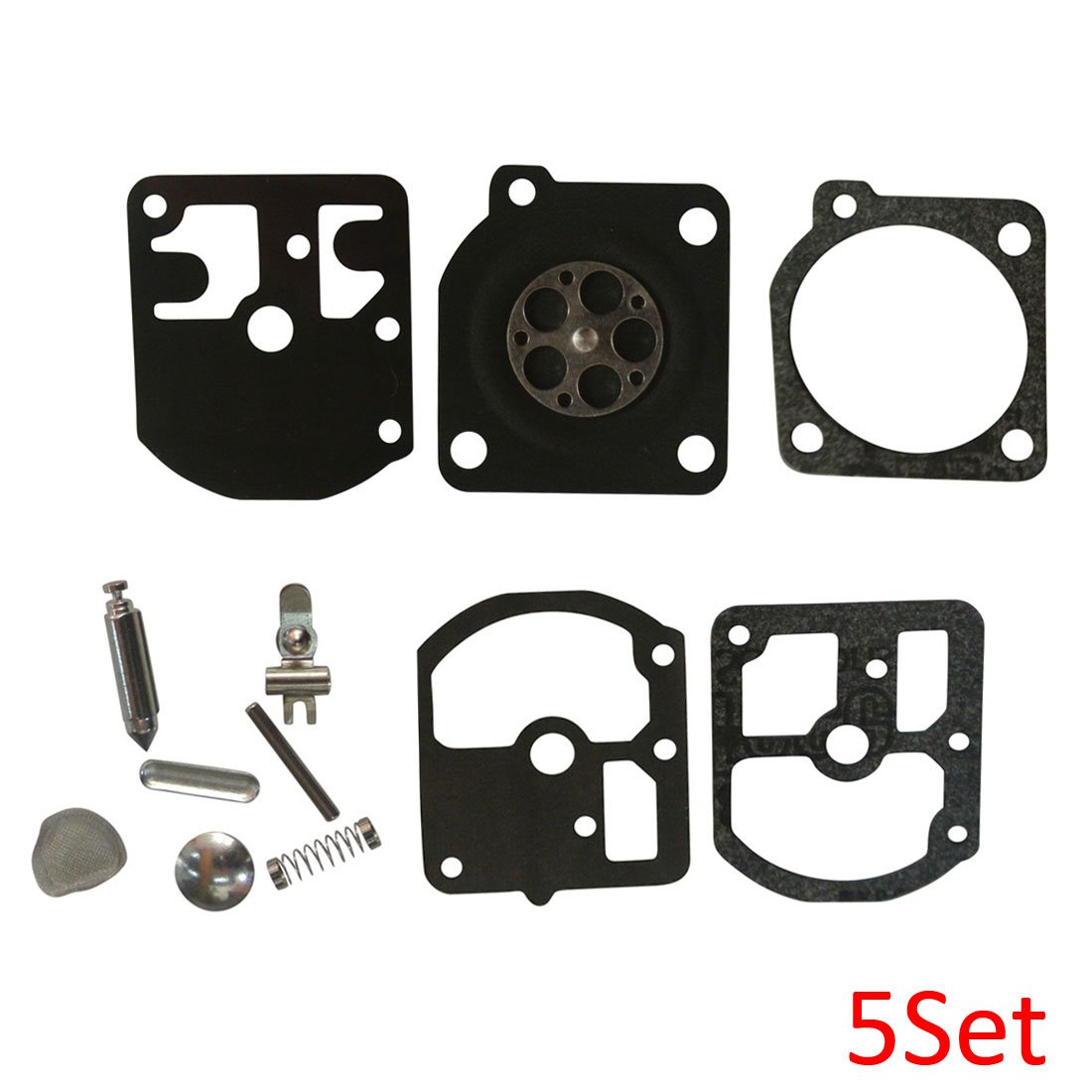 JRL Carburetor Rebuild Kit Fit Stihl 009 010 011 012 P/N ZAMA RB-7 RB-11  5Set