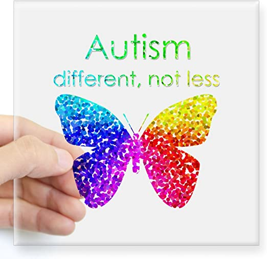 Various Sizes//Materials Different Not Less Decal Autism Support Window Decal