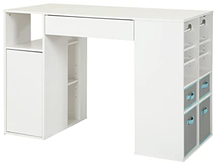 white counter height table. South Shore Crea Pure White Counter-Height Craft Table Without The Stool Counter Height G