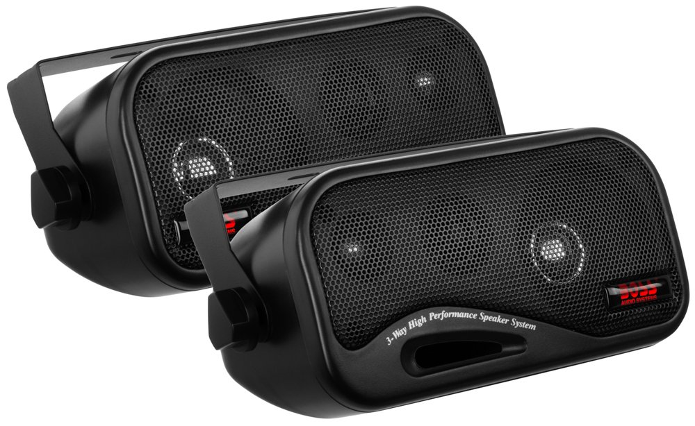 BOSS Audio Systems AVA6200 Enclosed Speaker System - 3-Way, 200 Watts Max Power Per Pair