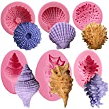 Funshowcase Seashell Sea Urchin Sea Shell Silicone Molds for Sugarcraft, Cake Decoration, Cupcake Topper, Chocolate, Soap Making, Resin Epoxy, Polymer Clay, Crafting Projects