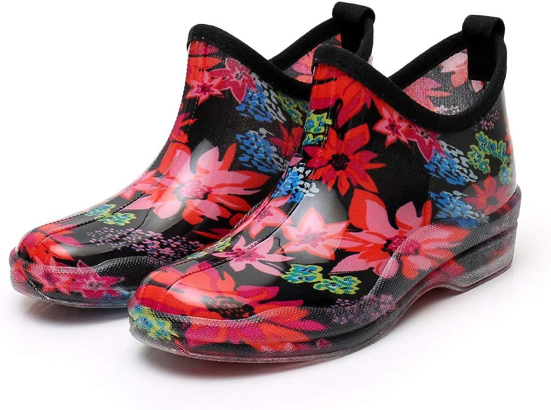 ARESGO Women Rainboots Garden Shoes|Size Run Big |Anti-slip Outsole | 5-9M US