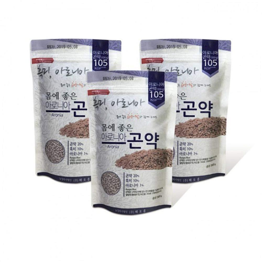 Aronia Konjak(Devil's-tongue) Rice 300g x 3, Low Calorie, Korea