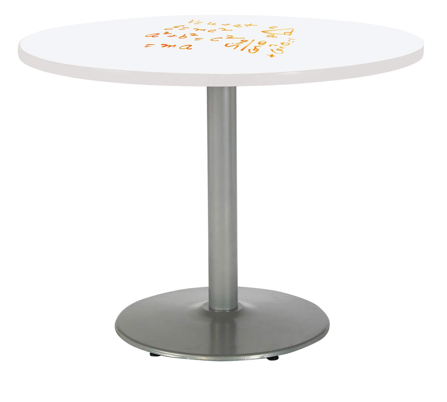 KFI T48RD-B1930-SL-3105-WH Mode Pedestal Table, 48'', White