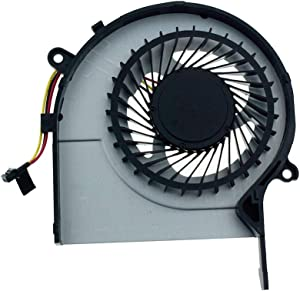 DREZUR CPU Cooling Fan Compatible for Toshiba Satellite L50-C L55-C L50D-C L55D-C P50-C Series Laptop Cooler L55-C5272 L55-C5392 L55-C5384 L55D-C5227 L55D-C5227X L55D-C5318 L55D-C5204R (3-Pin)