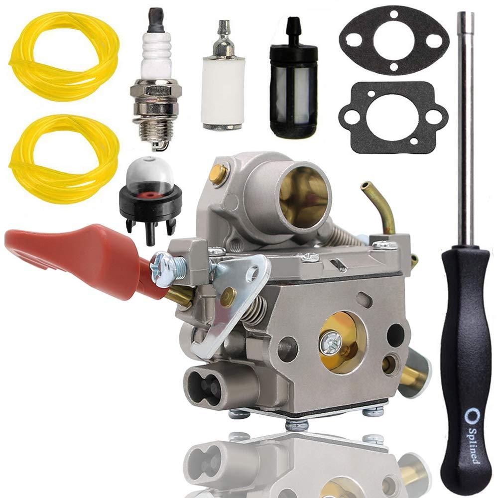 C1M-W44 Carburetor for 545008042 545189502 ZAMA W44 141A Craftsman Poulan 33CC PP333 PP330 PPB330 PP133 PP335 PPB335 PP338PT Pro Gas Trimmer by Woxla
