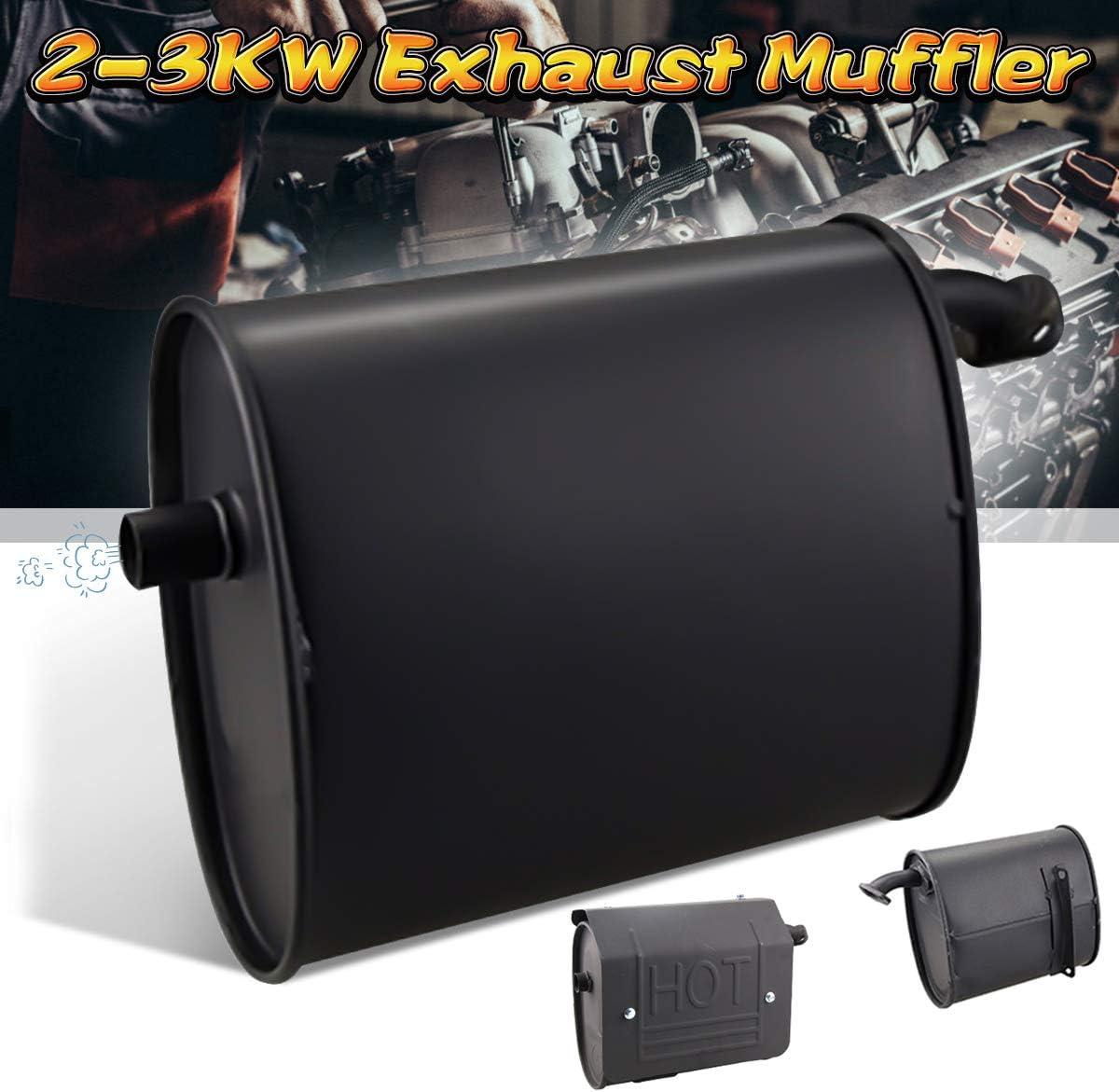 Auspuff Silencer Muffler Exhaust Silenziatore f/ür 2-3KW Gasoline Generator Auspuffspitzen Schalld/ämpfer Edelstahl Auto Auspuff