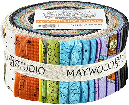 Meg Hawkey Salem Quilt Show Strips 40 2.5-inch Strips Jelly Roll Maywood Studio Show Cotton Quilt Fabric