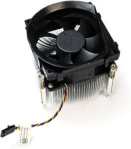 Aquamoon Trading 9FCCP Genuine OEM Dell Optiplex 7010 9010 Desktop 95W CPU Cooling 3.2mm Fin Performance Thermal Heatsink Shrouded Fan 5p 4w Black Header 3.5-Inch Cable Shroud Module 89R8J C8F72