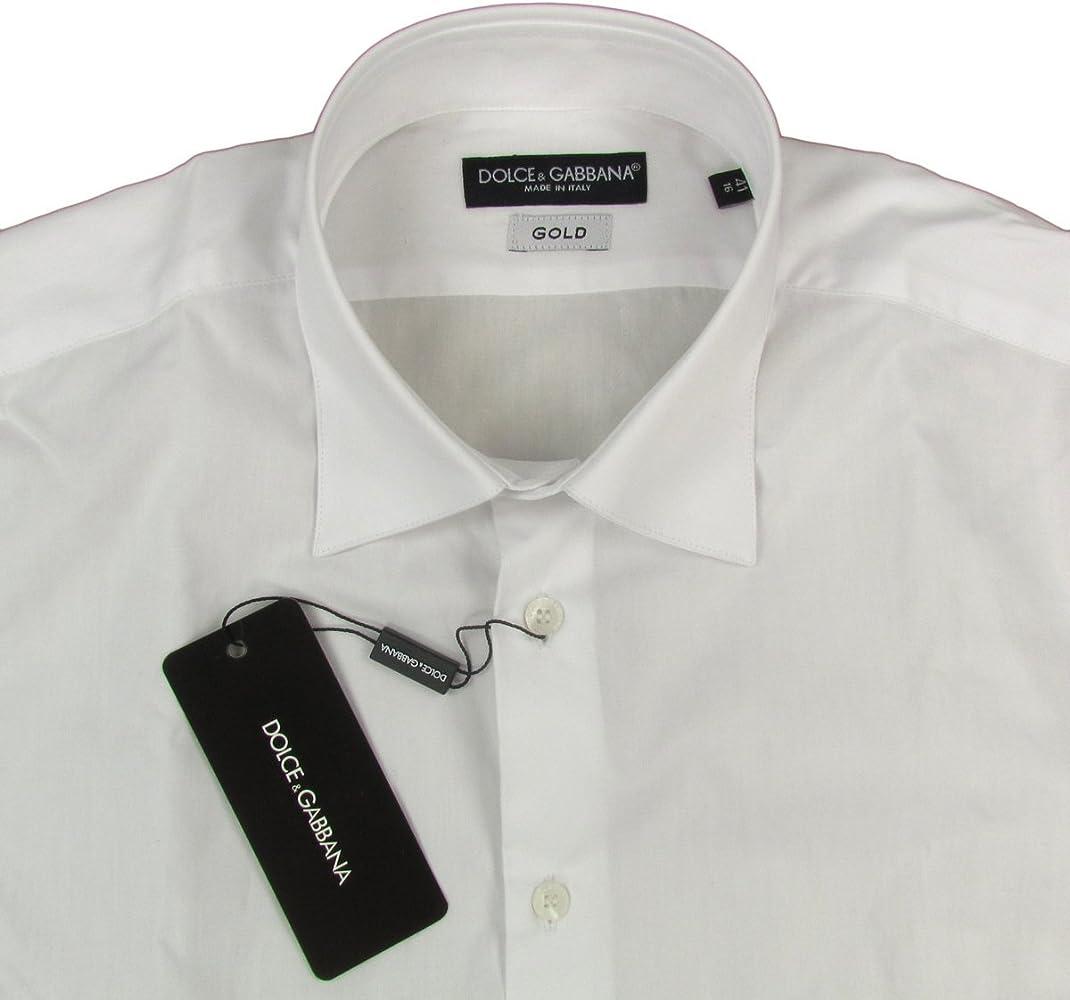 Dolce & Gabbana - Camisa formal - con botones - Manga Larga - para hombre blanco X-Large: Amazon.es: Ropa y accesorios