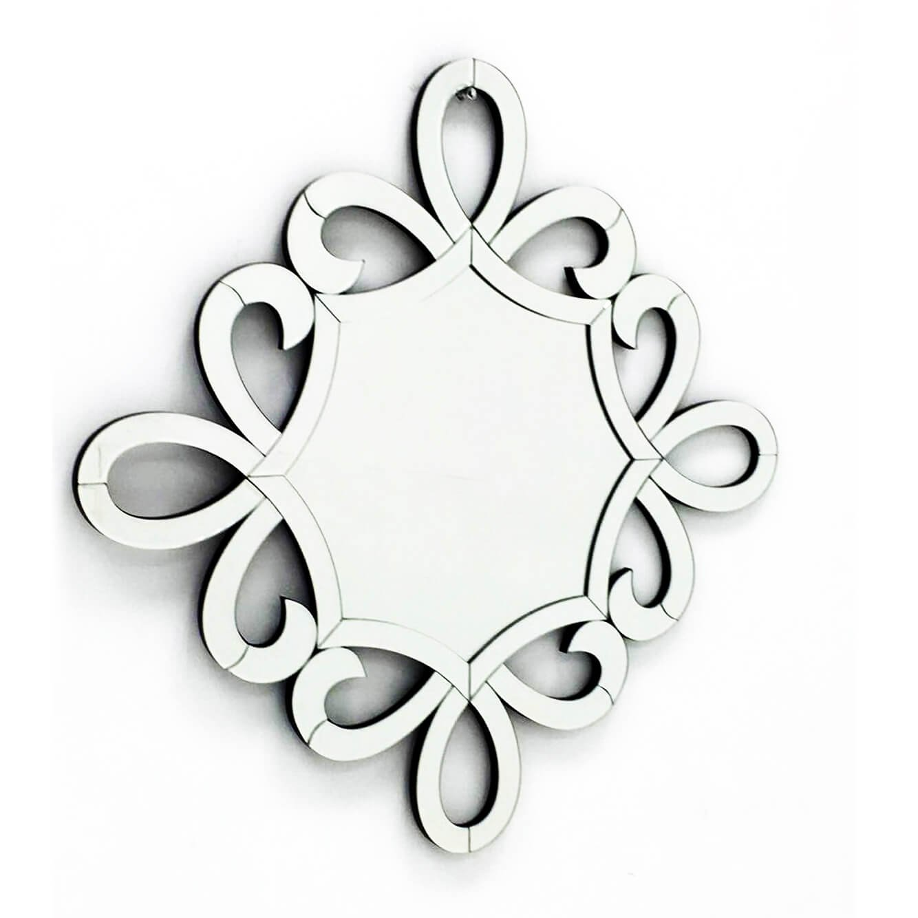 Fab Glass and Mirror FAB-WSTC007 Decorative Sunburst, Bathroom Wall Mirrors, 24 X 24 by Fab Glass and Mirror