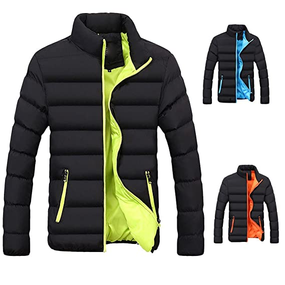 Amazon.com: Men Winter Warm Jacket,Vanvler Male Slim Fit Thick Bubble Coat Casual Parka Lightweight Outerwear: Clothing