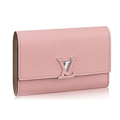 d7878e1737a5e Louis Vuitton Taurillon Leather Capucine Compact Wallets Article  M62156 at  Amazon Women s Clothing store