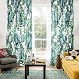 KARUILU home Window Curtain With Summer Mood (42W x 63L, Palm Cove) For Sale