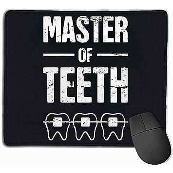 Gaming Mouse Pad Master of Teeth Rectángulo Alfombrilla de Goma ...
