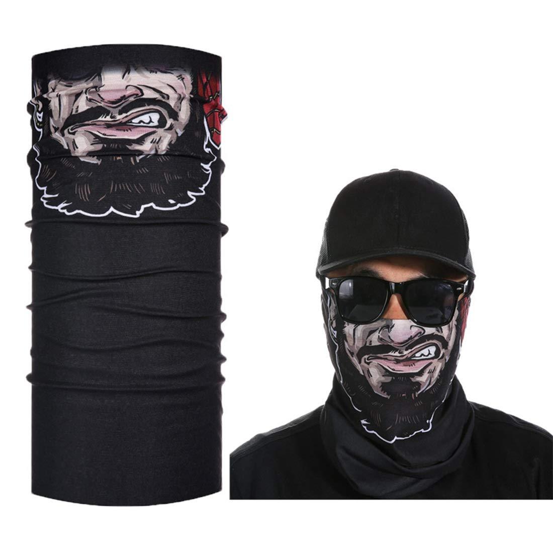 UICICI Patrón pirata Multifunción 3D bufanda mágica Protección UV ...
