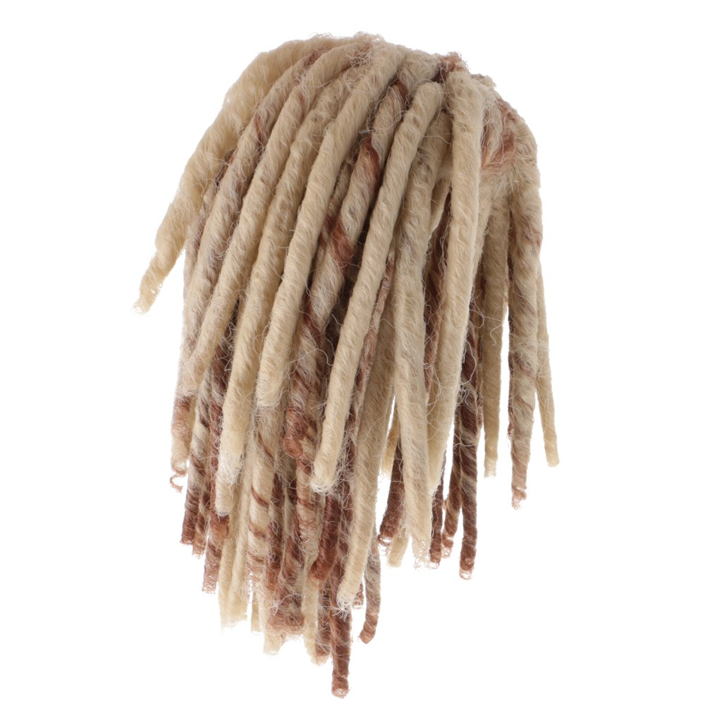 MagiDeal Brown African Dreadlocks Wig Hairpiece Curly Hair for 18 Inch American Girl Doll Accss