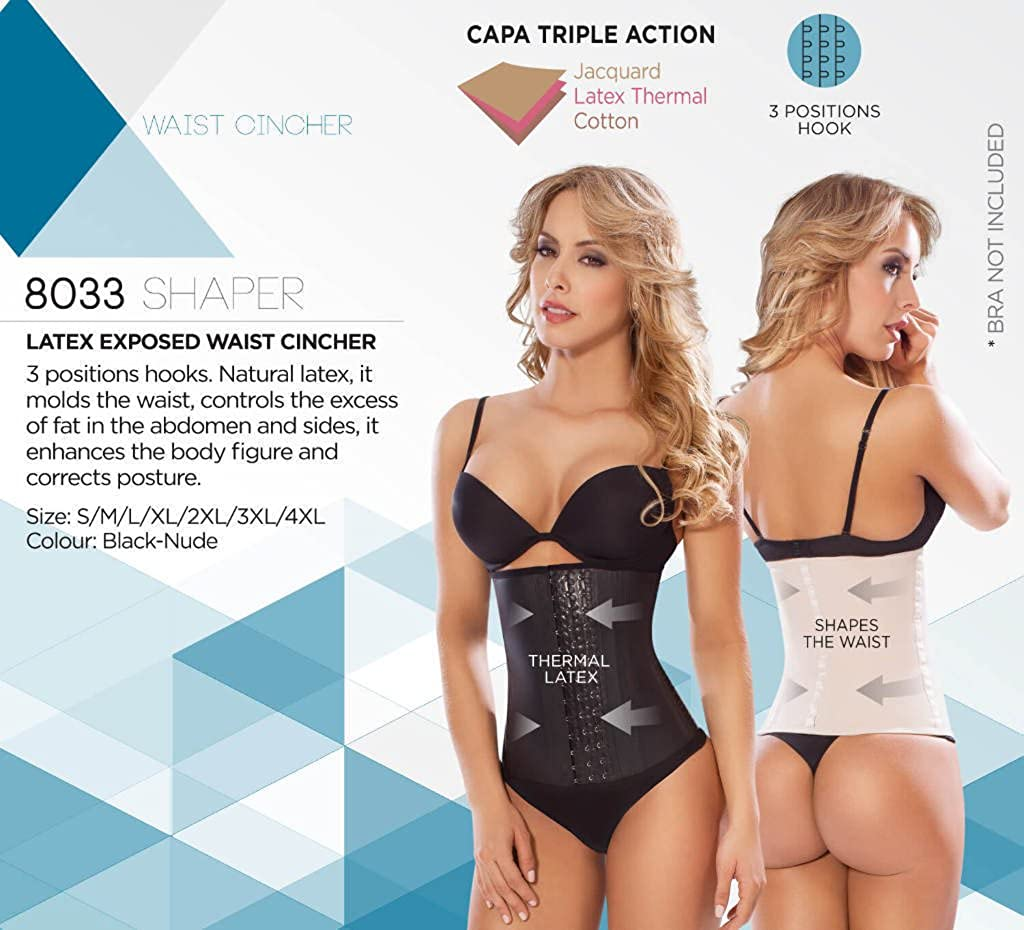 d08c186cc4e MOLDEATE 8033 Workout Waist Cincher Color Black at Amazon Women s Clothing  store