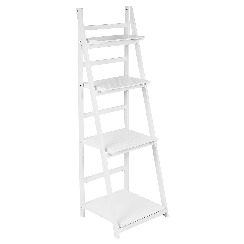Hartleys 4 Tier Folding Ladder Shelf - White
