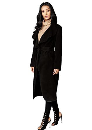 af1cab21874d Vanilla Inc SA Fashions® Ladies Italian New Waterfall Long Duster Belted  Cape Parka Outwear Celebrity Trench Coat 8-20: Amazon.co.uk: Clothing