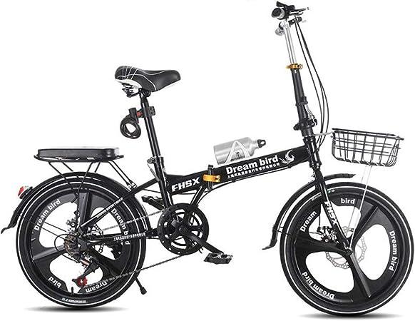 Paseo Freno De Bicicleta Plegable Bicicleta Plegable para Mujer Bicicleta De 6 Ruedas De 20 Pulgadas con Ruedas De Ciudad (Color : Black, Size : 150 * 30 * 100cm): Amazon.es: Hogar