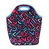 Insulated Lunch Tote Neoprene Thermal Waterproof Lunch Bag Box for Women Adults Kids Girls Toddler Nurse for Work Travel Outdoor