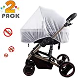 [2 Pack] Baby Nets for Strollers, Carriers, Car Seats, Cradles,