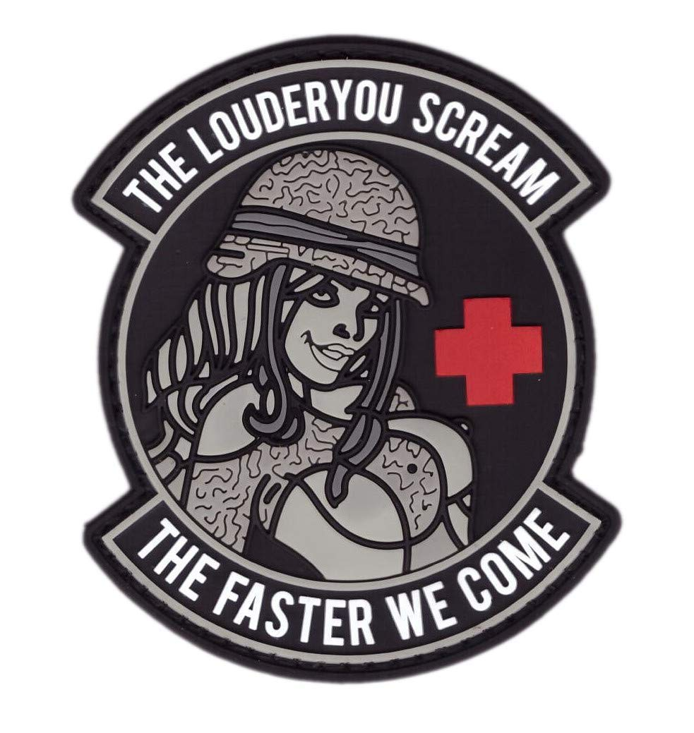 Titan One Europe Tactical PVC Louder You Scream Faster We Come Medic Tactical Patch Parche T/áctico