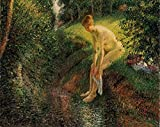 Pissarro Camille Bather in the Woods 100% Hand Painted Oil Paintings Reproductions 12X16 Inch