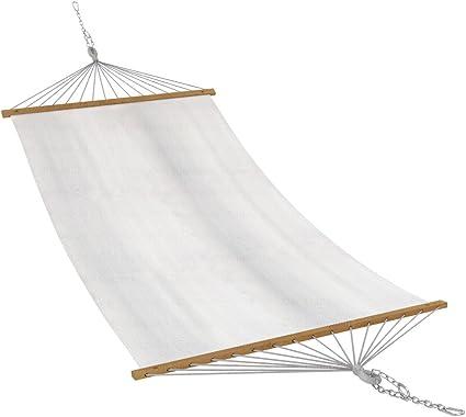 Stabhängematte 200 x 80 cm inkl Befestigung Hängematte Stoff  bis 120 kg Creme