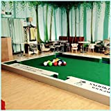ibigbean Footpool Table Set - Soccer and Pool - 6.6x3.6x0.2m