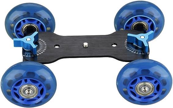 Desktop Dolly Stabilizer Cámara Réflex carro Quad Skater mesa ...