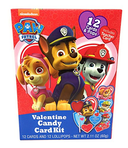 Licenced Character Valentines Day Lollipop Swap Bundle, 2 Pack, 24 Count (Paw Patrol)