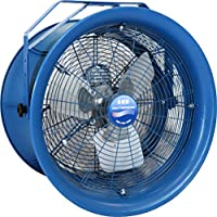Patterson Fan High Velocity Fan, Single-Phase, Air Throw Distance