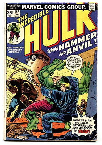(INCREDIBLE HULK #182 comic book 2nd WOLVERINE BRONZE)