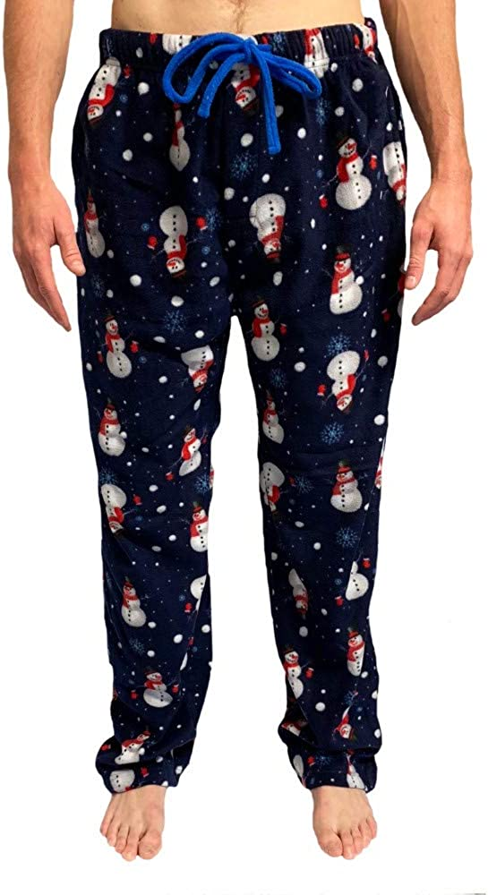 Bottoms Out Men's Micro Fleece Holiday Warm Comfortable Soft Winter Sleep Lounge PJ's Pajama Pants for Men