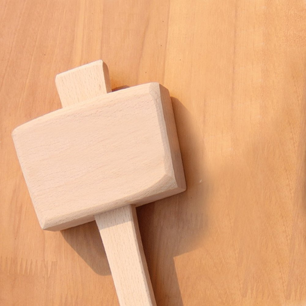 Wooden Mallet -Beechwood Woodworking Mallet with 4⅓ in Bora 1.9inx2.7in striking face,for Solid,Damage-Free Striking. by AdongTop (Image #4)