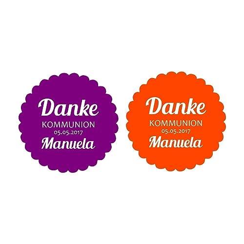 24 Aufkleber Etiketten Danke Zur Kommunion Konfirmation